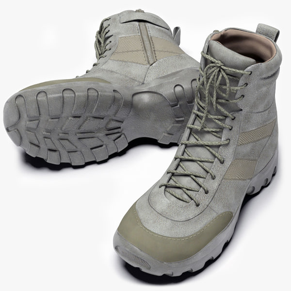 male hunter boots 3d model