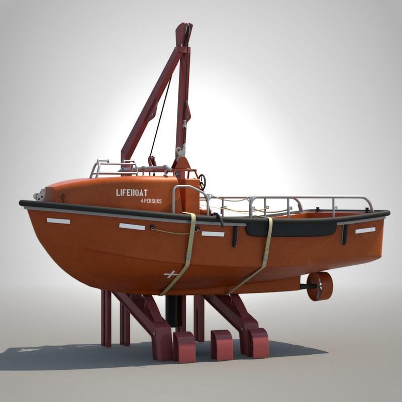 open lifeboat davit max