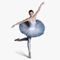 ballerina nina mouth 3d max