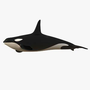3dsmax killer whale orca