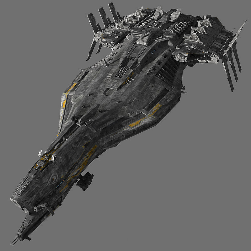 spaceship cruiser 3d model