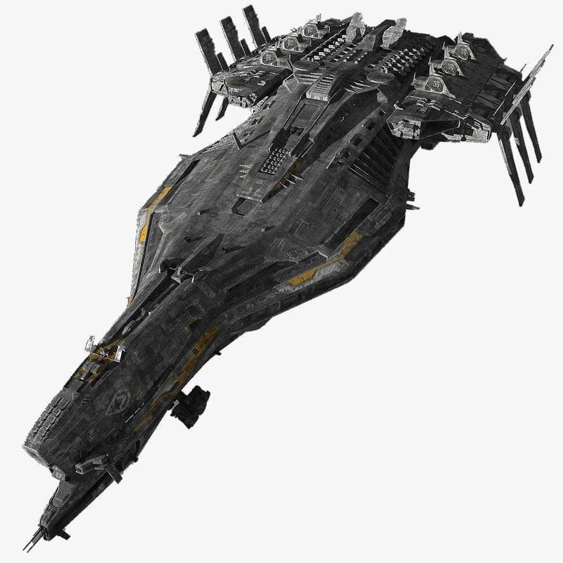 spaceship cruiser 3d model