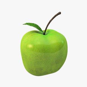 c4d green apple