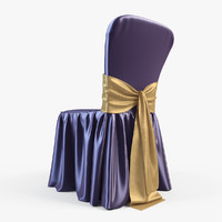 wedding chair 3d obj