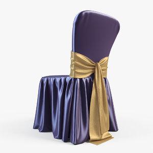 wedding chair 3d obj