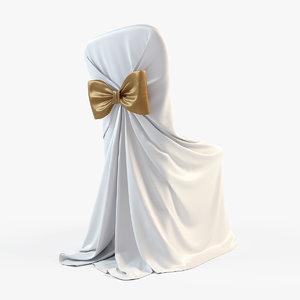 wedding chair 3d model