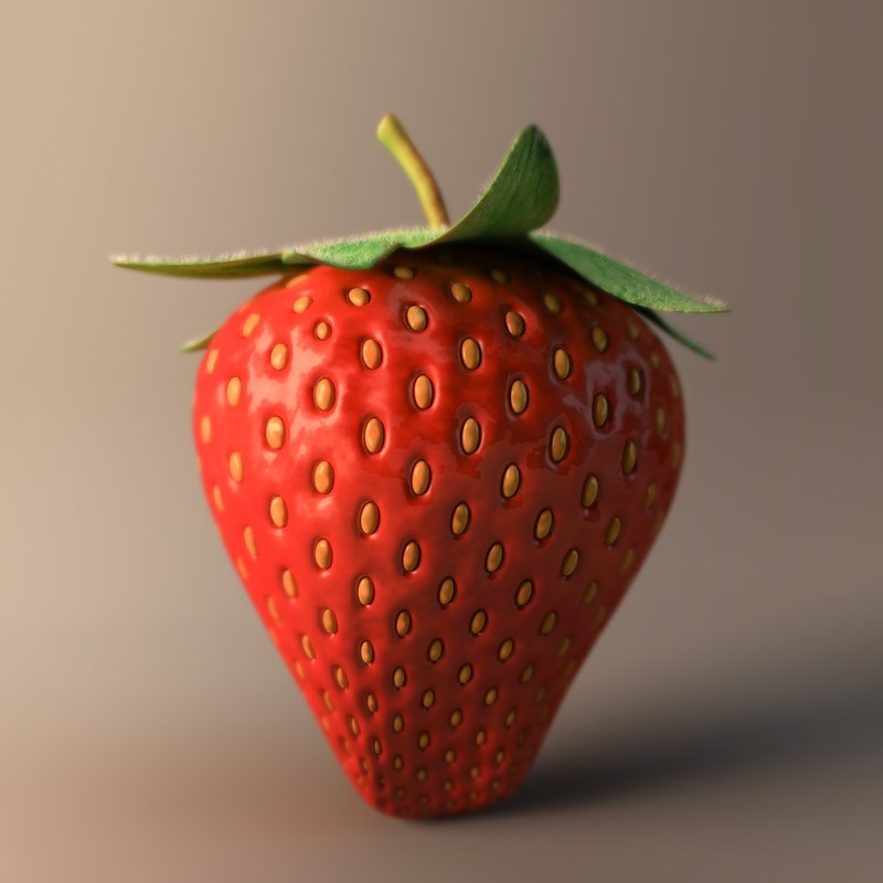 obj strawberry fruit