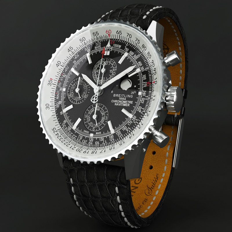 breitling navitimer 1461 modeled 3d max