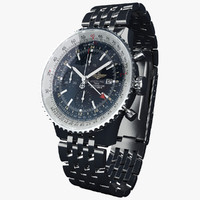 breitling navitimer world modeled 3d model