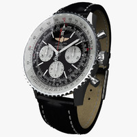 breitling navitimer modeled 3d max