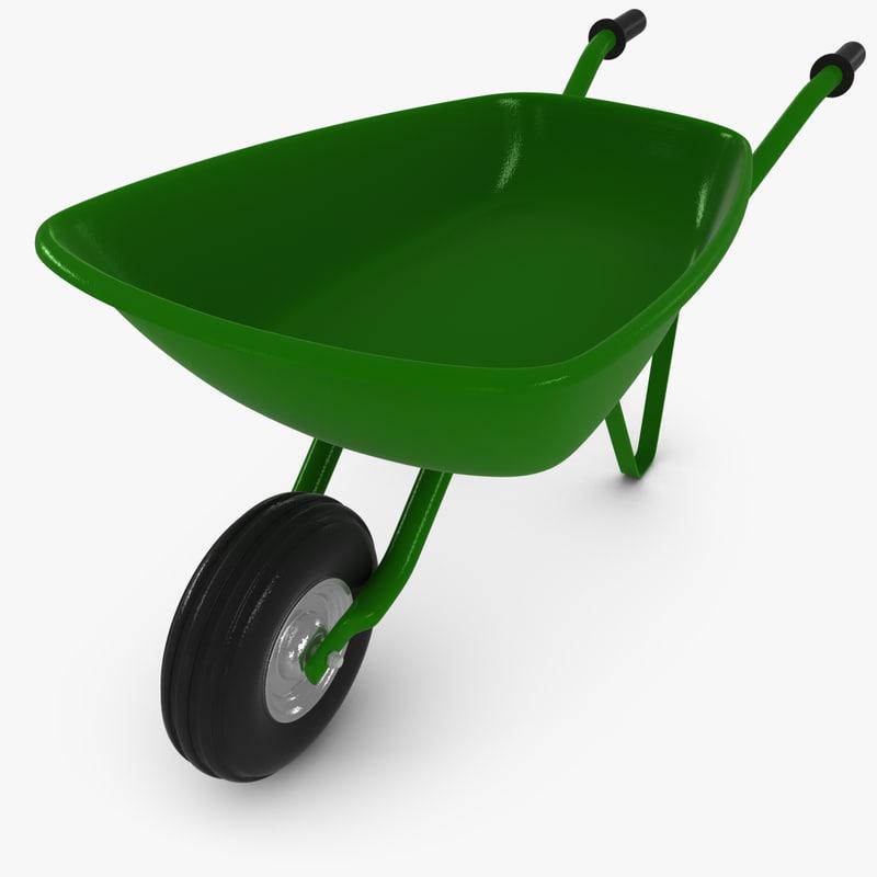 3d max wheelbarrow wheel barrow
