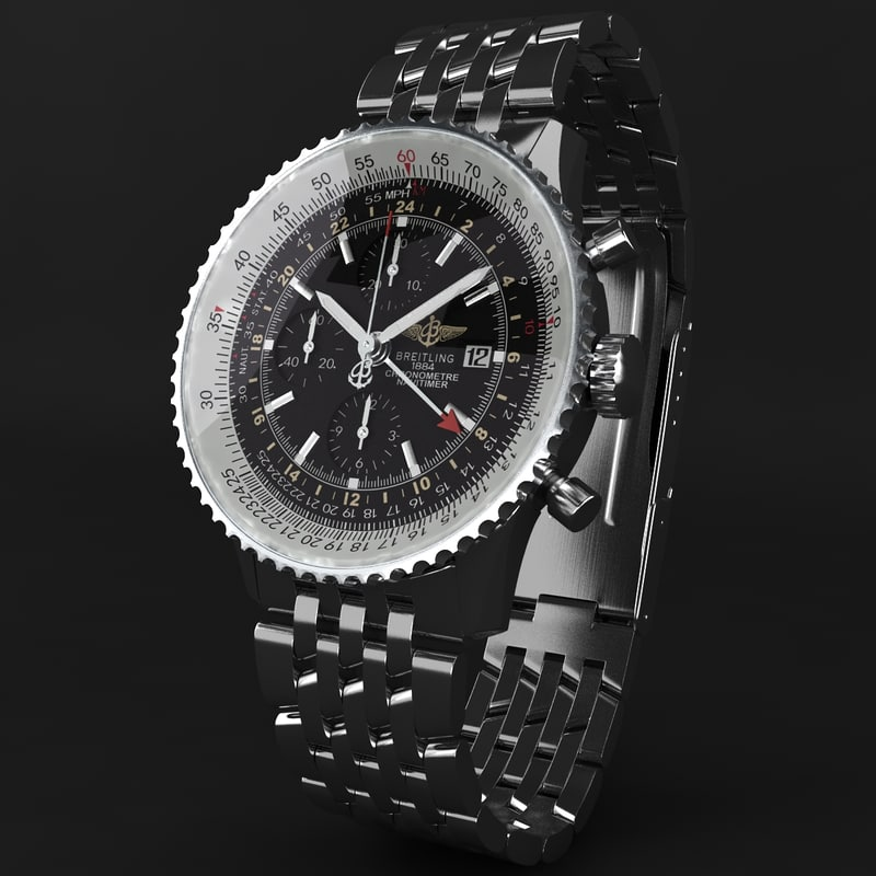 3d breitling navitimer world modeled