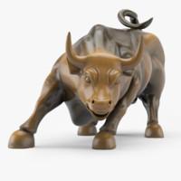 3d wall street bull model