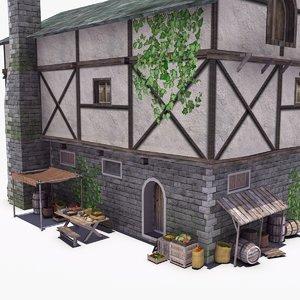 old medieval tavern 3d model