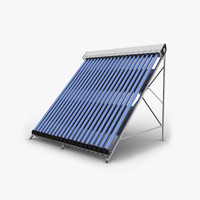 3ds max solar water collector