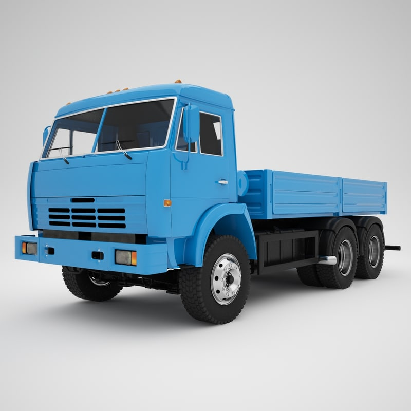 3d kamaz 65115 model