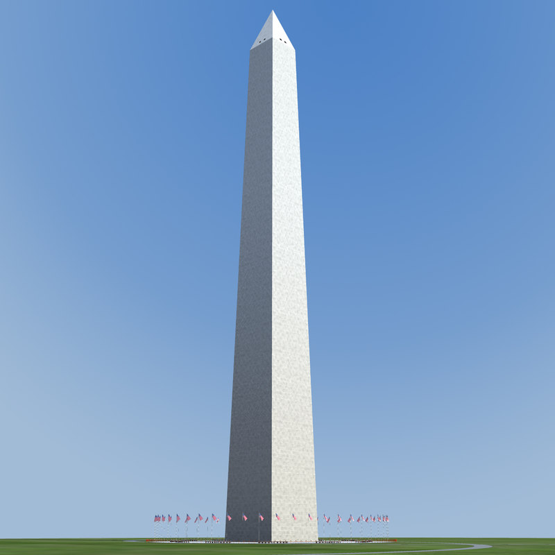 3d model washington monument - d