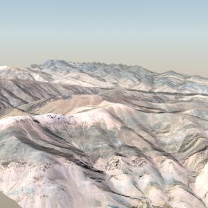 desert terrain landscape 3D model