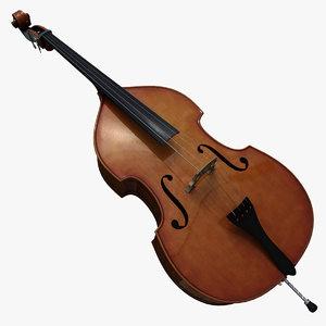 contrabass instrument 3d model