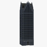 3d model of comerica tower detroit center