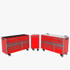 3d roller cabinets model