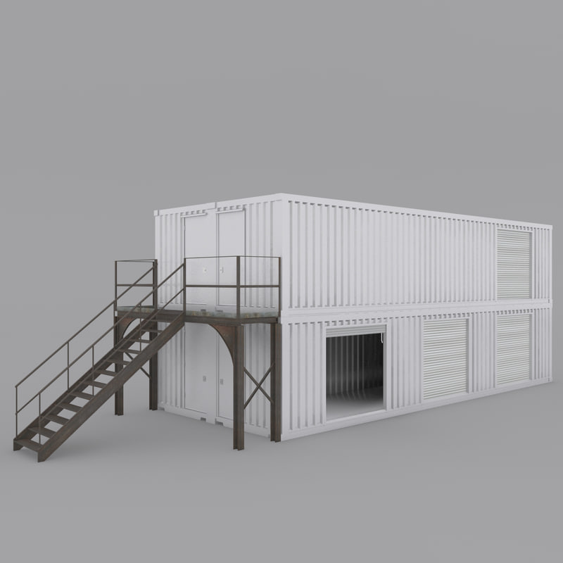 container building 3d model