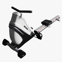 3d model rowing machine