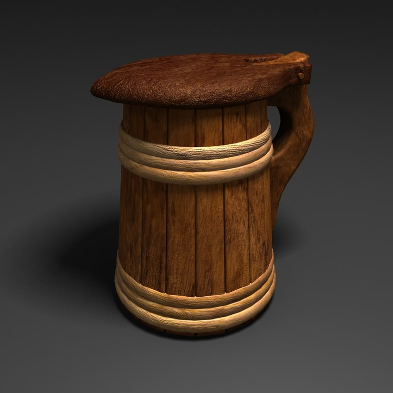 3d tankard flagon stein model