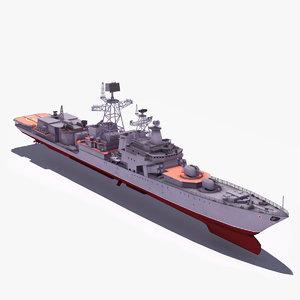 3ds max udaloyi class destroyer udaloy