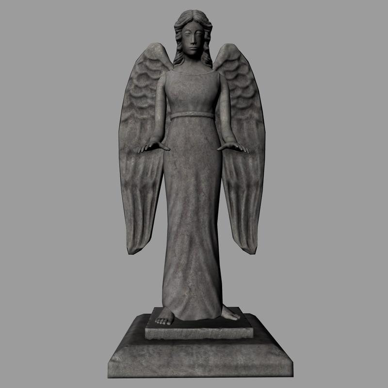 3dsmax angel statue