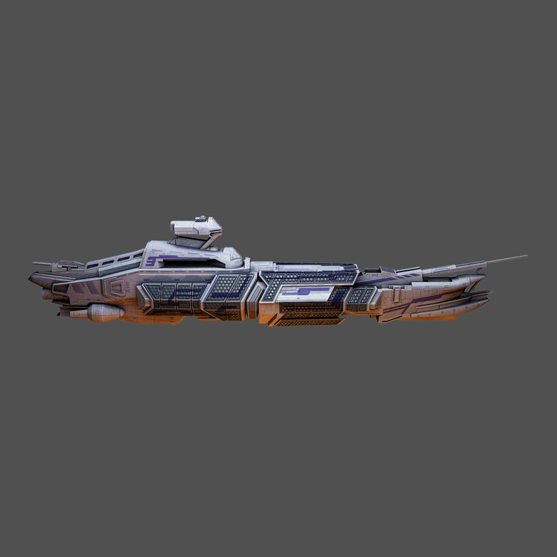 3ds max spacecraft mothership space