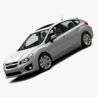 2012 subaru impreza wagon 3d model