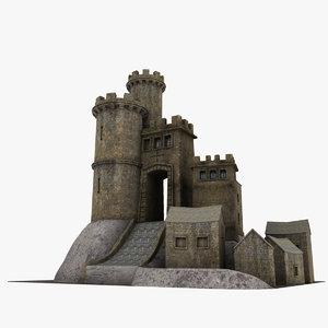 3ds medieval castle