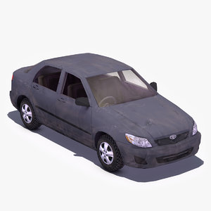 3d model damaged toyota corolla car wreck