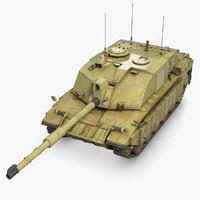 3d model tank challenger 2
