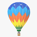 hot air balloon 3D models