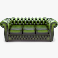 classic chesterfield sofa chester 3d model