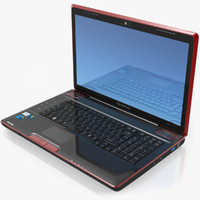 3d model notebook toshiba qosmio x500