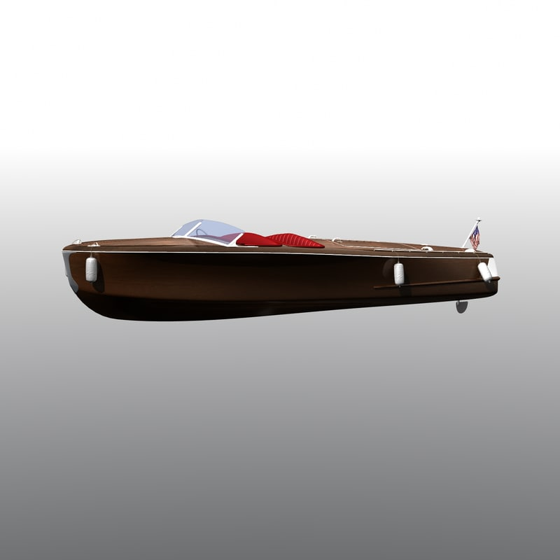 3d boat chris craft model