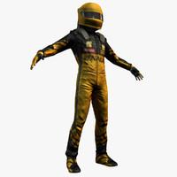3d racing driver model