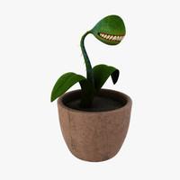 3d fictional carnivorous plant model
