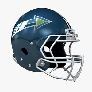 realistic football helmet 3d c4d