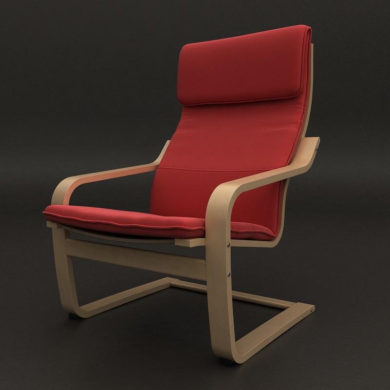 3d chair cloth wood model