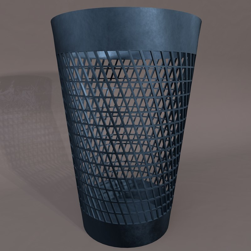 3d waste basket