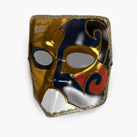 venetian carnival mask - 3d 3ds