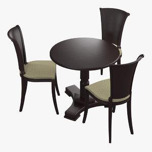 classical furniture set chair seat obj