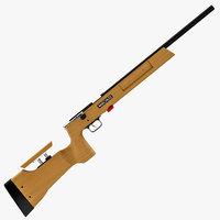 anschutz rifle 64 series 3d dxf