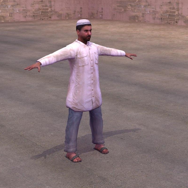 arab civilian 3d model