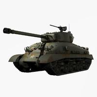 United States WWII M4A1 (76)W HVSS Sherman IIAY Medium Tank