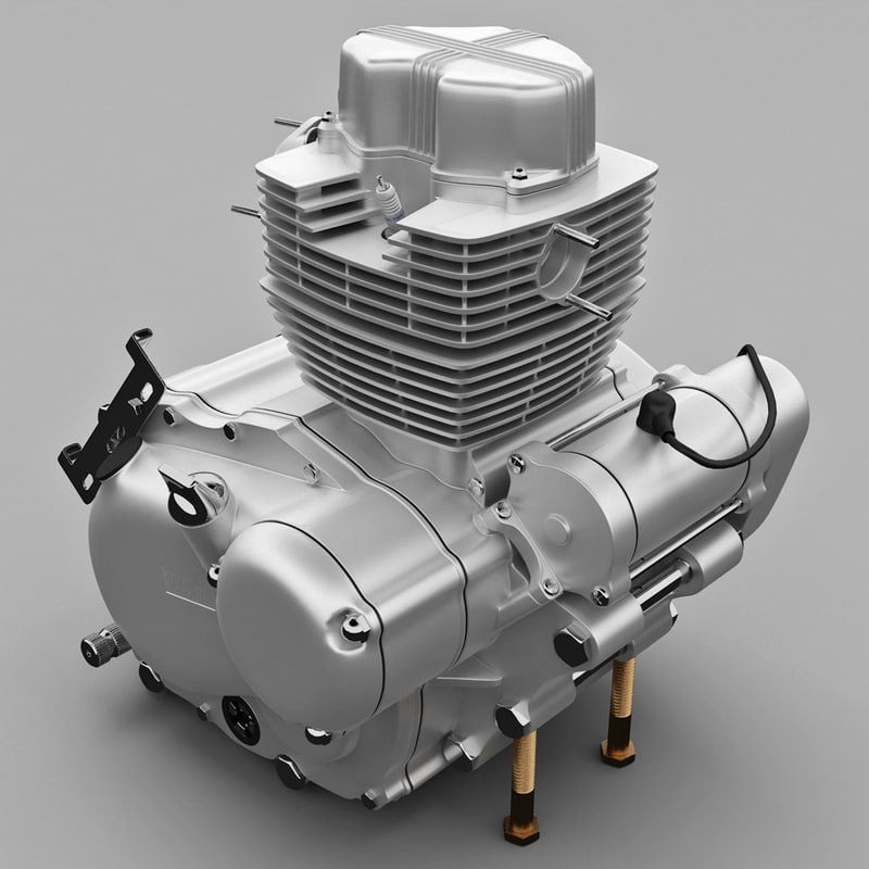 motorcycle engine cgt lingmu 3d model